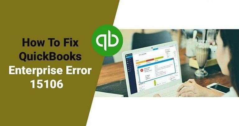 How can I fix Quickbooks Update error 15106