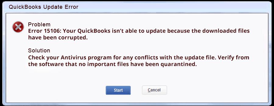 Best Troubleshooting to Resolve Quickbooks Error 15106